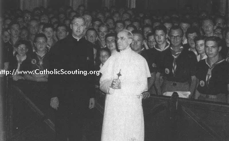 1951 Pius XII with Scouts